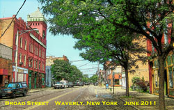 Waverly NY view on Broad Street